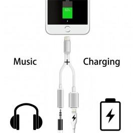 Cabo Apple iPhone 2 em 1 - Carregador + Jack audio