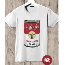 T-Shirt pop art Malandro RED PILL