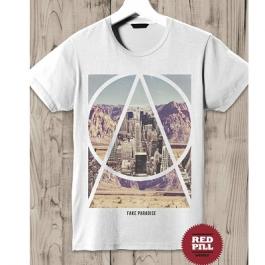 T-Shirt Fake Paradise - RED PILL