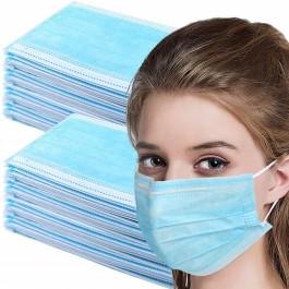 Máscaras Faciais Descartáveis 3 Camadas - Pack 50