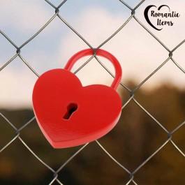 Cadeado com Chave Red Heart Romantic
