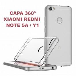 Capa 360 Gel Dupla Frente e Verso - Xiaomi Redmi Note 5A - Y1 - Transparente