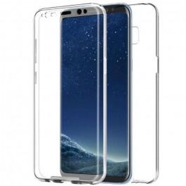 Capa 360 Gel Dupla Frente e Verso - Samsung Galaxy A8 2018 - Transparente
