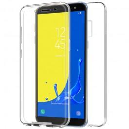Capa 360 Gel Dupla Frente e Verso - Samsung Galaxy J6 2018 - Transparente