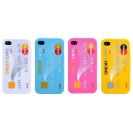 Capa de Silicone Cartão de Credito para Iphone 4/4s - LUCKCASE