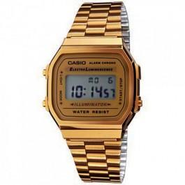 """Relógio Casio """"Retro"""" Dourado"""