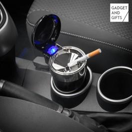 Cinzeiro com tampa e led para carro