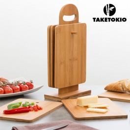 Conjunto de Tábuas de Cozinha em Bambu - 7 Peças