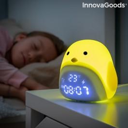 Despertador LED Tátil Recarregável de Silicone Chick
