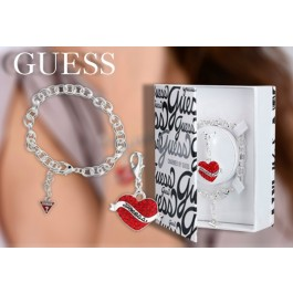 Pulseira GUESS® Ladies Tattoo Charmed com Pendente