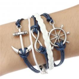Pulseira Marítima Com 3 Simbolos