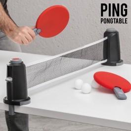 Jogo de Mesa Portatil ping pong