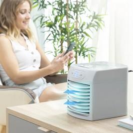 Mini Ar Condicionado Portátil Multifunções com Luz LED