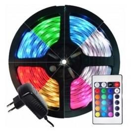 Rolo de Tira LED 5 Metros RGB Com Comando