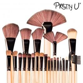 Conjunto de 24 Pincéis de Maquilhagem Pretty U™