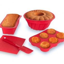 Formas para Bolos de Silicone Bakerware Set