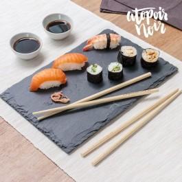 Set de Sushi com Bandeja de Ardósia - 11 peças