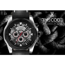 Relógio TIMECODE® WWW 1991 | Bracelete em Silicone Preto e Mostrador Preto