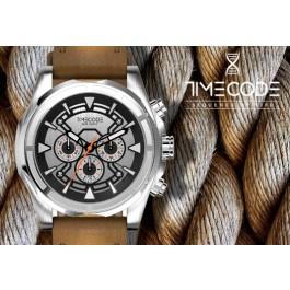Relógio TIMECODE® WWW 1991   Bracelete em Silicone Preto e Mostrador Preto