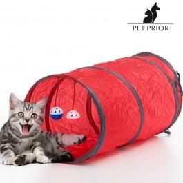 Túnel com brinquedos para gatos - 3 Peças