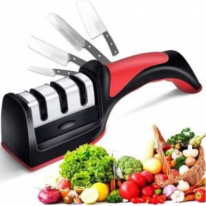 Afiador de facas profissional com 3 estágios