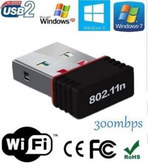 Adaptador Wifi USB Wireless 300 Mbps