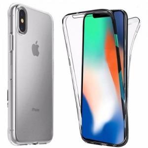 Capa 360 Gel Dupla Frente e Verso - iPhone X - Transparente