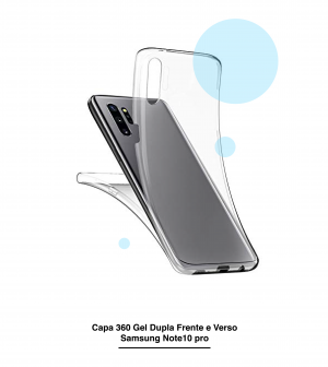 Capa 360 Gel Dupla Frente e Verso - Galaxy Note 10 Pro