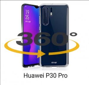 Capa 360 Gel Dupla Frente e Verso - Huawei P30 Pro - Transparente