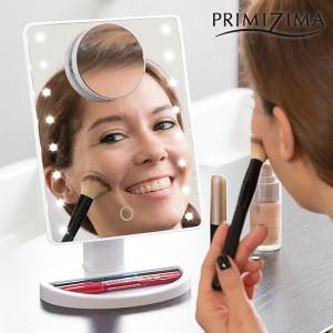 Espelho LED com aumento para maquilhagem