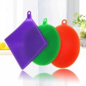 Esponjas Mágicas Flexíveis de Silicone Antibacterianas - 3 Peças