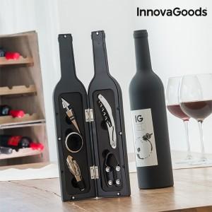 Utensílios para vinho em forma de garrafa