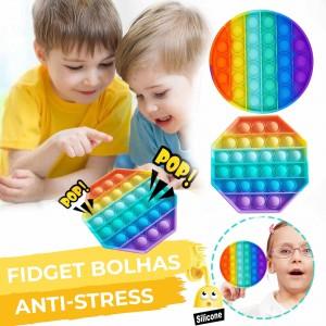 Fidget Bolhas sensorial anti-stress pop pop em silicone