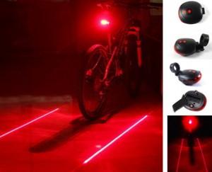 Sinalizador Laser + Led para Bicicleta