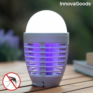 Lâmpada antimosquitos recarregável com LED 2 em 1