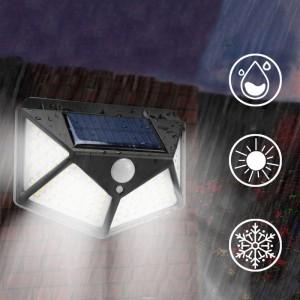 Luz Led Solar de parede com sensor de movimento - 100 Leds