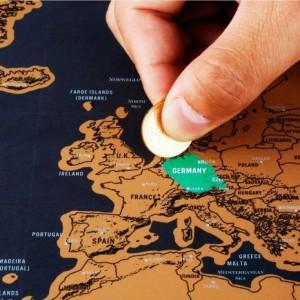 Mapa Mundo Raspadinha - Black Edition