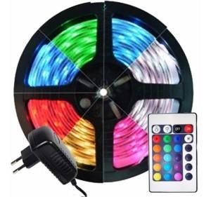 Rolo de Fita LED 15 Metros RGB Com Comando