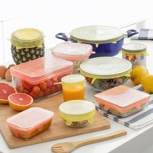 Tampas de Cozinha Reutilizáveis e Ajustáveis - Pack de 10