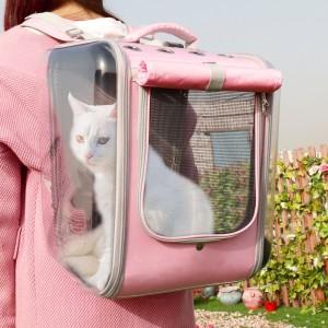 Transportadora de animais respirável e panorâmica 360 - 2 Cores