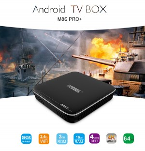 Smart Android TV Box c/ Kodi Octa Core - 4K Ultra HD