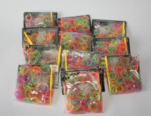 Elásticos para pulseiras Rainbow Loom