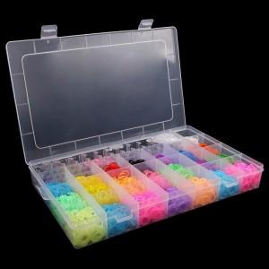 Kit completo para pulseiras Rainbow Loom - 4400 Elásticos