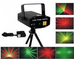 Projetor Laser Stage Lighting com Strobe e Comando