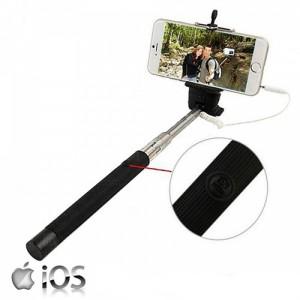 Braço Extensivel para Selfies - Ligação por cabo - Iphone
