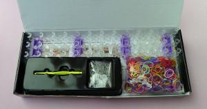 Kit Completo para fazer pulseiras Rainbow Loom