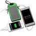 Bateria Power Bank 18000 mAh Carregamento Solar Anti-Choque - 2 USB